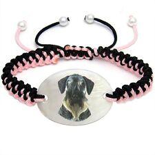 Cesky Terrier Dog Natural Mother Of Pearl Adjustable Knot Bracelet Chain Bs72