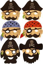 Fancy Dress Foam Pirate Buccaneer Mask Eva Masks Party Bag Filler Child 24/48/72