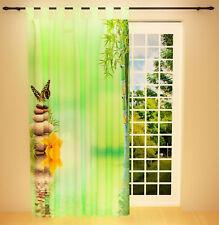 """Foto Schlaufenschal Vorhang Gardine """"Bambus und Steine"""""""