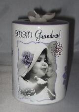 XO XO Grandma! Candle Holder Tea Light Flower Purple Baby New