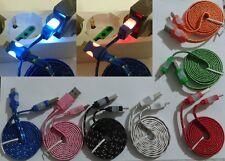 Cavo dati carica batterie micro usb led luminoso per samsung nokia huawei htc lg