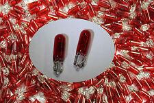 Glassockellampe 12 Volt 1 Watt T5 Rot  Spielautomaten Automaten