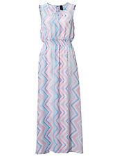 HEINE BEST CONNECTIONS LADIES MINT CHEVRON PRINT MAXI DRESS NEW (ref 517)