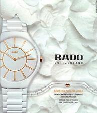 PUBLICITE ADVERTISING  2012   RADO  montre extra plate          201112