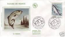 2665 FDC ENVELOPPE 1er JOUR SOIE  LE  SAUMON