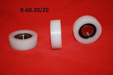60 mm  Nylon Roller Wheel Plastic Bearing Guiding Wheel Flat Belt Idler