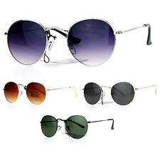 SA106 Vintage Style 90s Snug Fit Oval Round Metal Frame Sunglasses