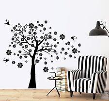 Wall Decal Cherry Tree Swallow Bird Floral Vinyl Sticker (z3637)