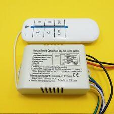Interruptor de pared de luz LED inalámbrico y control remoto de 4 vías de encendido/apagado 220V Digital
