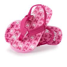 SALE Girls Reef Little Ahi flip flops Pink Butterflies. Infant UK2-3 left.