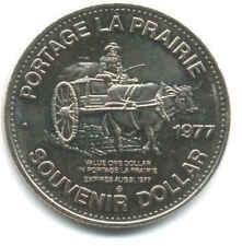 DOLLAR 1977 TOURIST SOUVENIR PORTAGE LA PRAIRIE REPUBLIC OF MANITOBAH