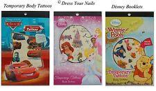 Dibujos animados de Disney organismo temporal Tattoo Stickers-Princesa Cars Winnie + Friends