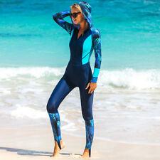 Women Dive Scuba One Piece Jumpsuit Bodysuit Hooded Full Body Swimwear Swimsuit