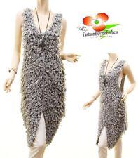 Haute Boho Lamb Shaggy Wool Furry Fur Hippie Vest Cardigan Sweater Coat S M L