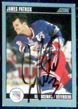 James Patrick New York Islanders 1992-93 Score Signed Card