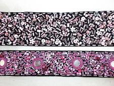 Bindegürtel Schmuckgürtel mit Perlen Rocailles Pailletten bestickt, NEU *005*