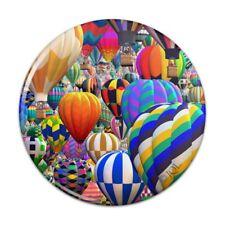 Hot Air Balloon Sky Traffic Jam Compact Pocket Purse Hand Cosmetic Makeup Mirror