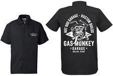 GAS MONKEY GARAGE workershirt Front antorcha & Martillo BLACK