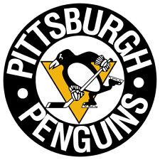 Pittsburgh Penguins Circle logo Vinyl Decal / Sticker 5 Sizes!!!