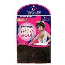 Vivica A Fox 100% Human Hair Remi Quality Kinky Bulk Afro Soul-FREE SHIP!