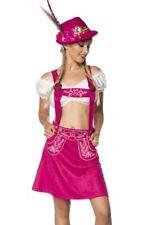 Daim jupe rose bavarois dirndl brodé salopettes femme déguisement uy 70029