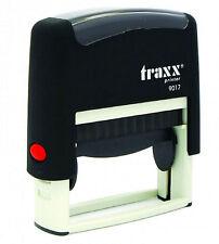 Chèque timbre-auto encrage tampon en caoutchouc traxx 9017 - 50 x 10mm