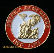 IWO JIMA HAT LAPEL PIN UP USA FLAG US MARINES NAVY CORPSMAN USS WW 2 SANDS OF