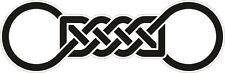 CELTIC SYMBOL VINYL STICKER BUMPER DECAL RELIGIOUS CAR BIKE MOTO KNOT DESIGN 09