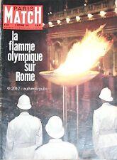 JOURNAL NAISSANCE ANNIVERSAIRE PARIS MATCH 03/09/1960 N°595 JEUX OLYMPIQUES ROME