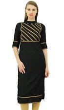 Bimba Womens Rayon Designer Tunic Lace Detail Yoke Kurtis Top Straight Blouse