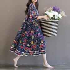 Newest Womens Summer Bohemia Beach Floral Skirt Casual Oversize Maxi Loose Skirt