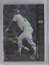 2001 SP Authentic Buy Back Autographs #72 Sammy Sosa Chicago Cubs Auto Card