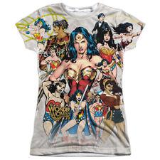 Wonder Woman 75Th Collage (Front Back Print) Juniors Sublimation Shirt White