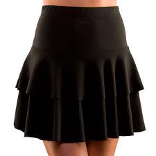 Black 80s Retro Ra Ra Skirt Punk Mod Rock Rocker Rave Fancy Dress Costume
