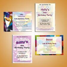 Personalised Childrens Kids Teenager Party Celebration Invites Invitations
