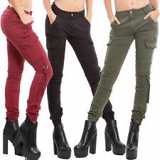 Pantaloni donna cargo tasconi skinny aderenti elasticizzati sexy TOOCOOL YD3007