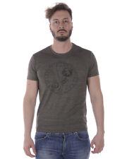T-Shirt Maglietta Versace Jeans Sweatshirt % SLIM Uomo Grigio B3GRA71E-141