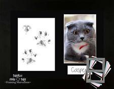 Katze Haustier PFOTEN MUSTER Pawprints Set schwarz Foto Bilder Rahmen Kätzchen