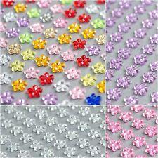 132x 6mm Daisy Flowers Self Adhesive Stickers Rhinestone StickOn Jewel Gem Craft
