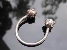 Tiffany & Co Silver Soccer Ball Key Ring Key Chain!