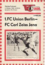 OL 85/86  1. FC Union Berlin - FC Carl-Zeiss Jena