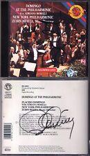 Placido Domingo & Zubin Mehta SIGNED Live at New York CBS CD Giordano Lehar