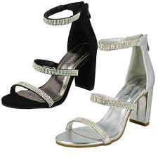 Ladies Anne Michelle Diamante Strappy Sandals