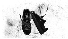 Puma Rihanna Negro Terciopelo Creepers Shoestring Entrenadores Talla 7 del Reino Unido.