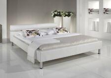 Diseñador Cuero Cama Color Blanco de piel lujo tapizada OPT. Mesita noche