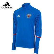 adidas Russia [ gr. XS/S/M ] ALLENAMENTO TOP FELPA BLU ac5799 NUOVO conf. orig.