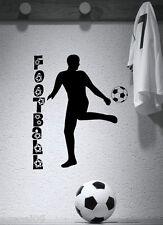 SPORT CALCIO... COOL Ragazzi Muro Citazione Vinile Art Adesivo Stencil GRAPHIC camera da letto