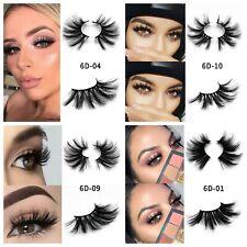 6D Mink 25mm Natural Thick False Fake Eyelashes handmade Lashes Makeup Extension
