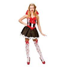 NEW Queen of Hearts Fairytale Girls Fancy Dress Halloween Costume w/ Crown