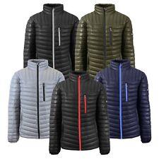 28877aa56dbda Mens Puffer Jacket Coat Outerwear Layer Cold Contrast Trim Zipper Packable  NWT